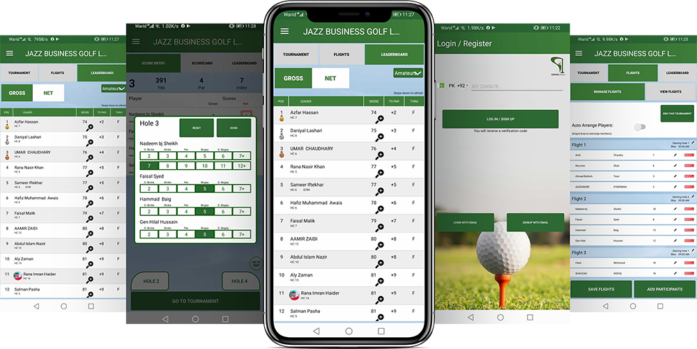 Golf Tournament App